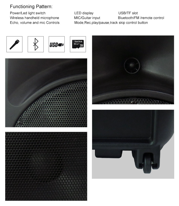 Wireless tv music party speaker with bluetooth