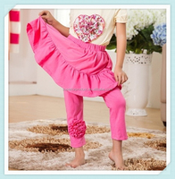 new style skirt leggings& skirt pants with flower cotton top quality autumn-winter sweet cotton baby girl pantskirt