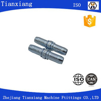 Double connector 9001 for hydraulic hose fitting by CNC machine