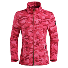 High quality women sportswear printing camo fleece jacket