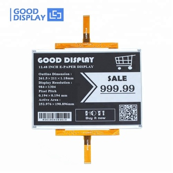 E good display large 12 inch e-ink e paper display screen