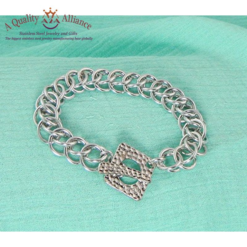 best brand rigid and not easy to deform stainless steel cuff african custom logo bracelet