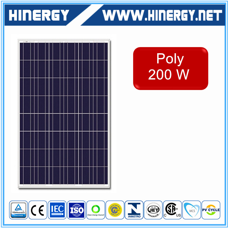 High efficiency factory direct supply top popular solar module 200w 24v cheapest price 200w poly solar panel