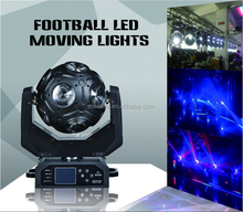 12pcs 12W RGBW football led beam moving head wash led dj disco light