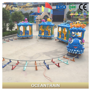 Indoor Playground Equipment Kids Electric Amusement Ocean Track Train