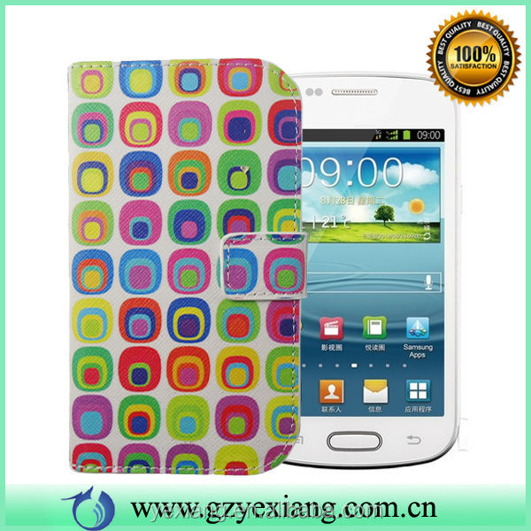 China Supplier Sublimation Phone Case For Samsung S3 Mini Leather Pouch