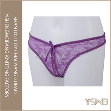 Anti-bacterial purple lace hipster panties oem latest hot sexy thong panty models