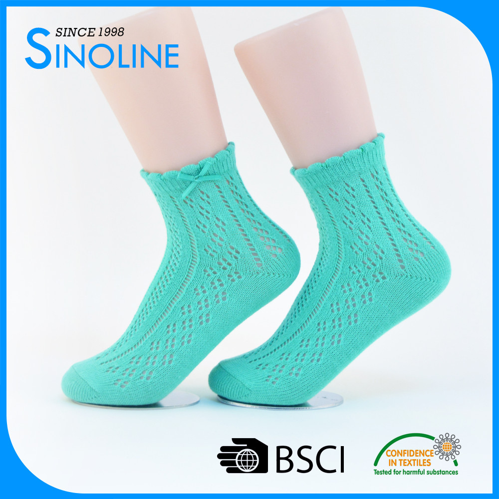 custom summer women sexy casual socks tube with bow tie