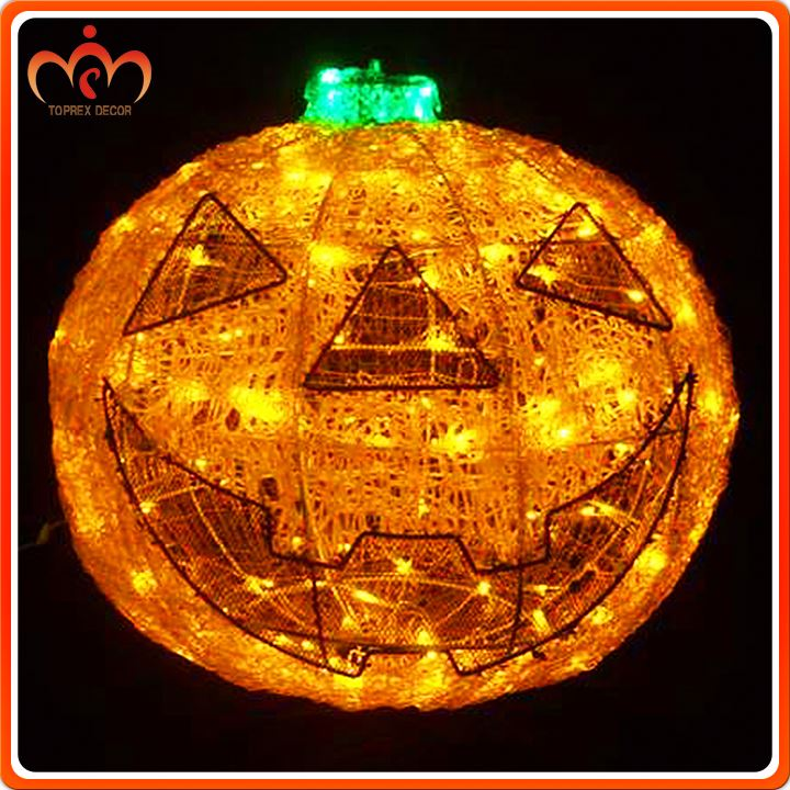 Outdoor Indoor 30cm Halloween Pumpkin with LED Light