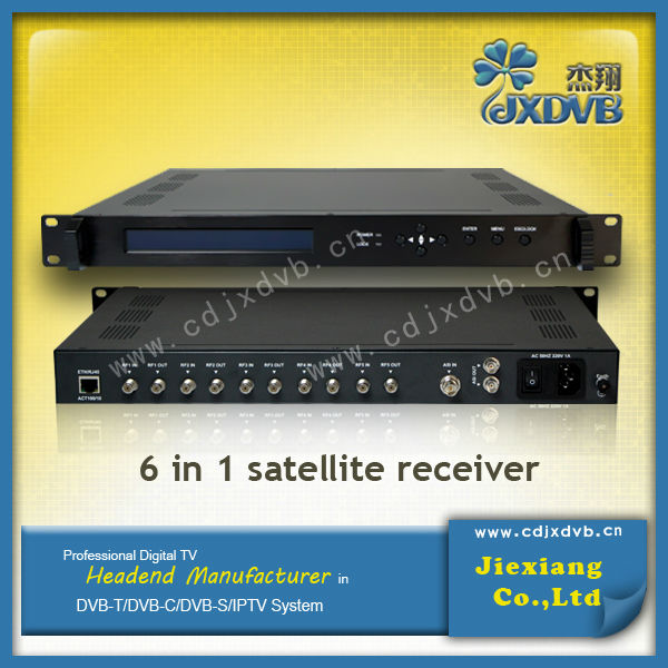 Digital TV Latest 6 in 1 TS Satellite Receiver QPSK to ASI