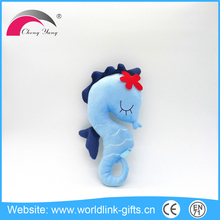High quality custom colorful soft plush sea horse fish toys, plush seahorse toys