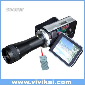 "Digital Video camera With Optical Telescope Zoom Lens /3.0"" TFT LCD / MP3 player (DV-668T)"