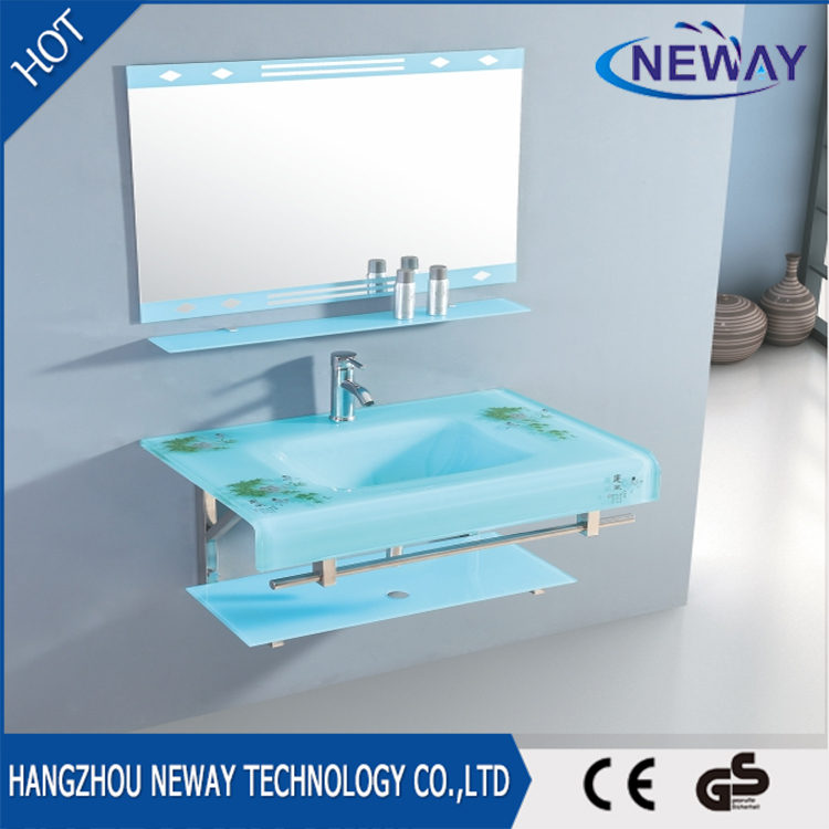 Wall mounted wash basin models price,glass wash basin price with mirror