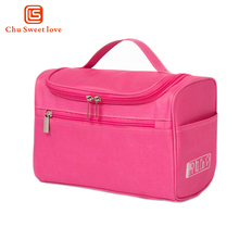 Fashion custom canvas travel women foldable round drawstring wholesale cosmetic bag set