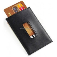 Flip Cover Leather Credit Card Case