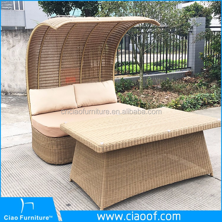 Cheap Modern Outdoor Wood Daybed