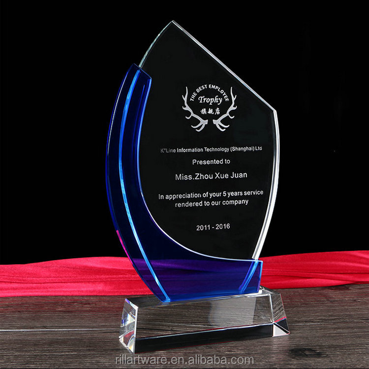 Custom crystal trophy plaques awards wholesale trophy award decoration and gifts