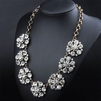 2015 Latest New Statement Necklace Big Brand Flower Choker Collar Vintage Necklace For Women Luxury Jewelry