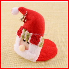2016 Best Selling Christmas Decoration Of Christmas Cup Mat , Christmas Hat Decor For Cup,Christmas Decorating For Party