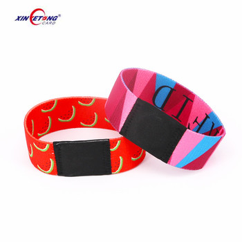 FM11R08 Colored elastic Wristbands Read/Write rfid smart bracelet