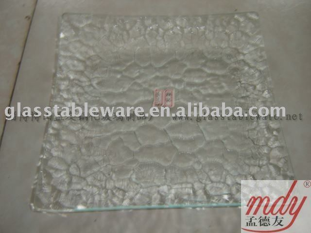 clear tempered glass plate ,square ;tempered glass dinnerware