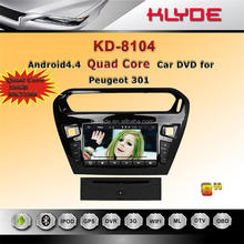for peugeot 301 car dvd gps navigation 8 inch 4 core HD Bluetooth WIFI DAB+ 16GB