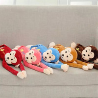 Hot Sale Multicolor Long Arms and legs monkey plush toy Factory Direct Sale Children Soft Monkey
