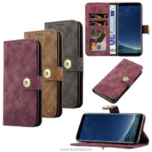 Luxury Leather flip Phone Cover Case for Galaxy s8 s8plus, PU wallet Card holder case for samsung S8