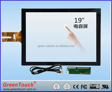 GreenTouch G+G Cover Glass multi touch screen COB Connection 19inch,sizes can be customized touch screen