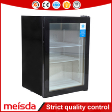 Customized Sticker Supermarket Freezer 98L Mini Ice Cream Showcase