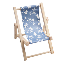 Cheap promotional Wood & Canvas Beach Deck Chair Desk Stand for cell phone holder