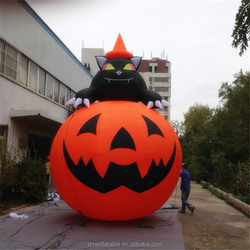 Halloween decoration giant Inflatable Pumpkin with Ghost