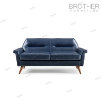 Modern design home and hotel upholestry sofa furniture 2 seat leather sofa