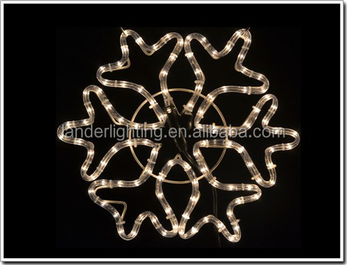 Outdoor christmas 3d Died in battle the officers decoration landscape light led rope light multi color yellow snowflake motif