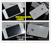 NEW Arrival flash Diamond screen protector,screen Guard with custom Pacakaging for used mobile phone