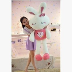 2016 custom pp cotton creative fruit and love rabbit plush toy for birthday present