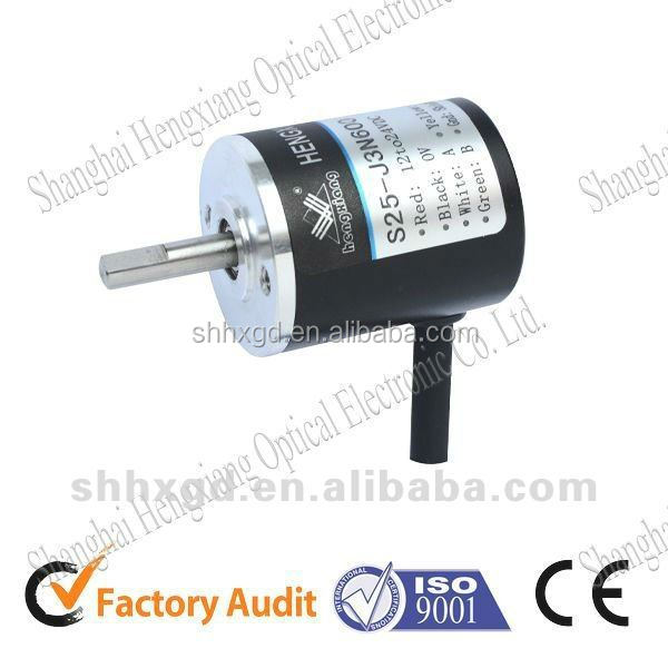 Incremental encoder solid shaft rotary encoder Type S25-J 4mm shaft encoder