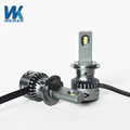 WEIKEN new auto lighting system small size 30w 60w dc9-32 volt aluminum csp led chip headlight bulb