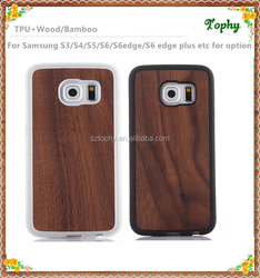 Competitive Price Cover walnut Wood Case For Samsung Galaxy S6 edge Natural 100% Real Wood Hard Back Case Cover
