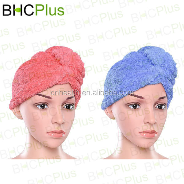 NEW & HOT Hair Turban Towel Twist Wrap Fast Drying Absorbent Microfiber Dry Hair Cap for Bath, Spa