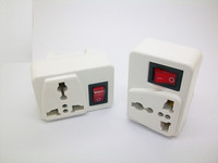 Universal UK Plug to Australia China Wall Plug Adapter with Switch Screw