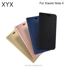 2017 New Mobile Phone Accessories Flip Leather with a slot flip case for Xiaomi Note 4