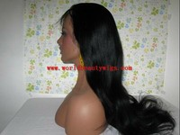 2013 new style 100% human hair 22'' 1# full lace wig