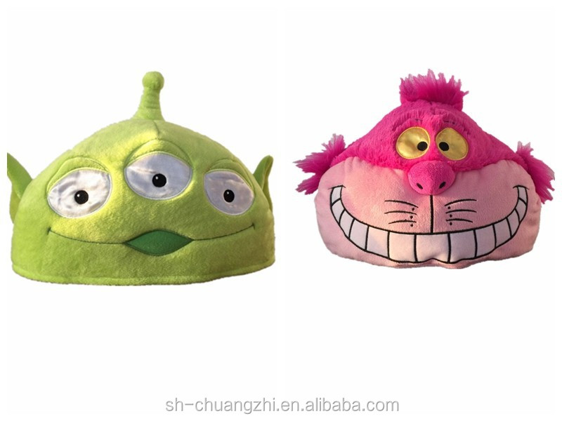 super soft animal toy Monsters Unidesign custom fluffy Monsters University plush hat decorative stuffed toys promtional hat