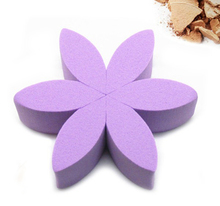 Purple latex free flower makeup sponge,makeup sponge puff