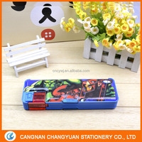 back to school stationery New cheap top one button plastic PVC pencil case with customized printing
