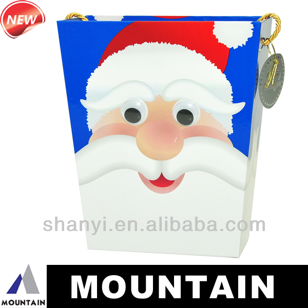 Mountain Father Christmas decoration barrel gift box