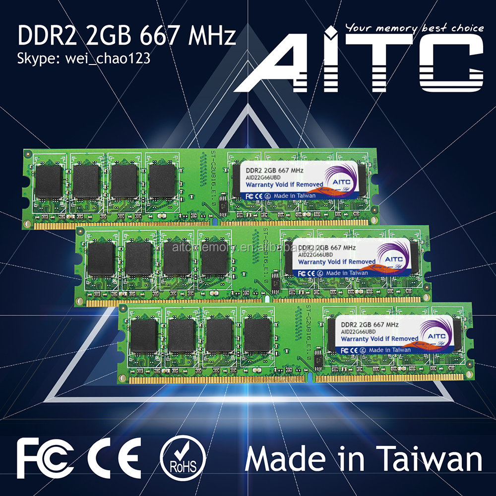 High performance AITC 667 2gb ddr2 ram desktop pc sdram