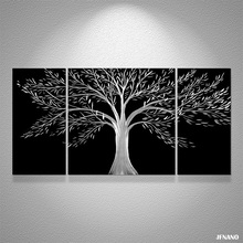 Fashion Wedding Decoration Life Tree Metal Painting Modern Art Wall Decor Wall Pictures For Living Room