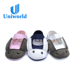 Newest design canvas fabric animal decorated soft sole casual shoes for prewalker kids